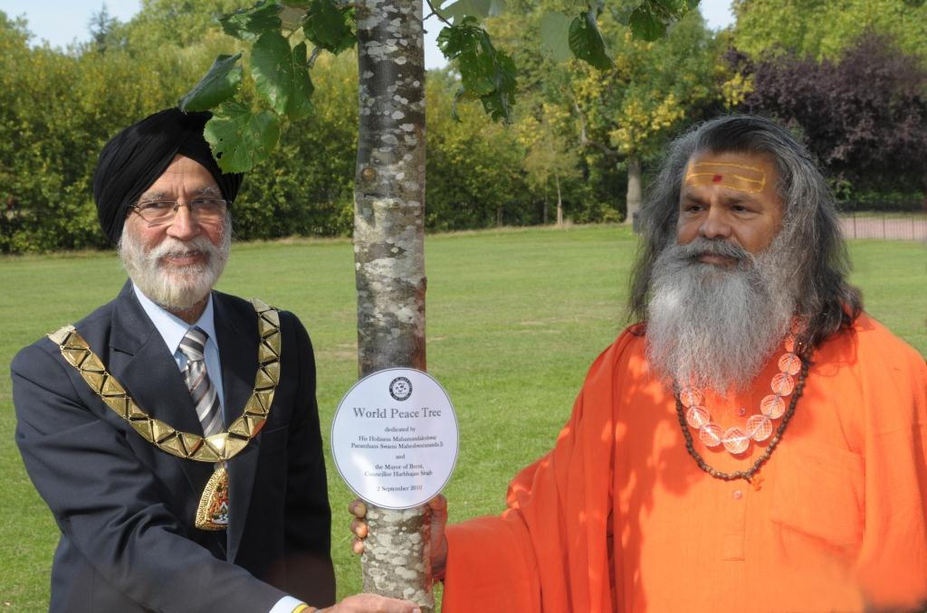 Peace Tree planting ceremony in Queen's Park London Thursday 2nd September 2010, 11am