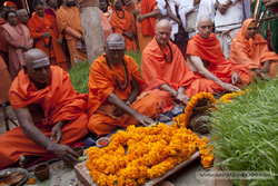 Mahamandaleshwar initiation in Allahabad during Kumbha Mela 2013
