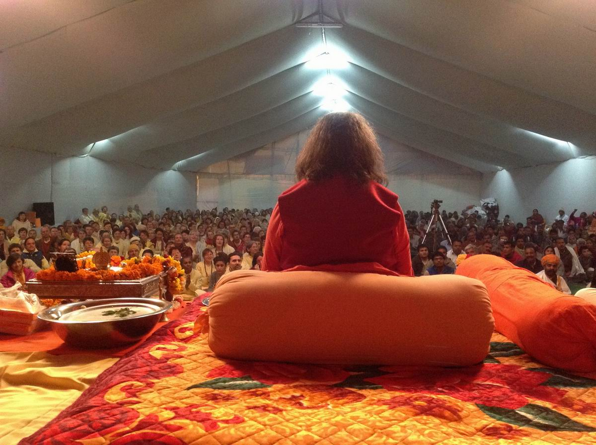 9 Satsang in our camp