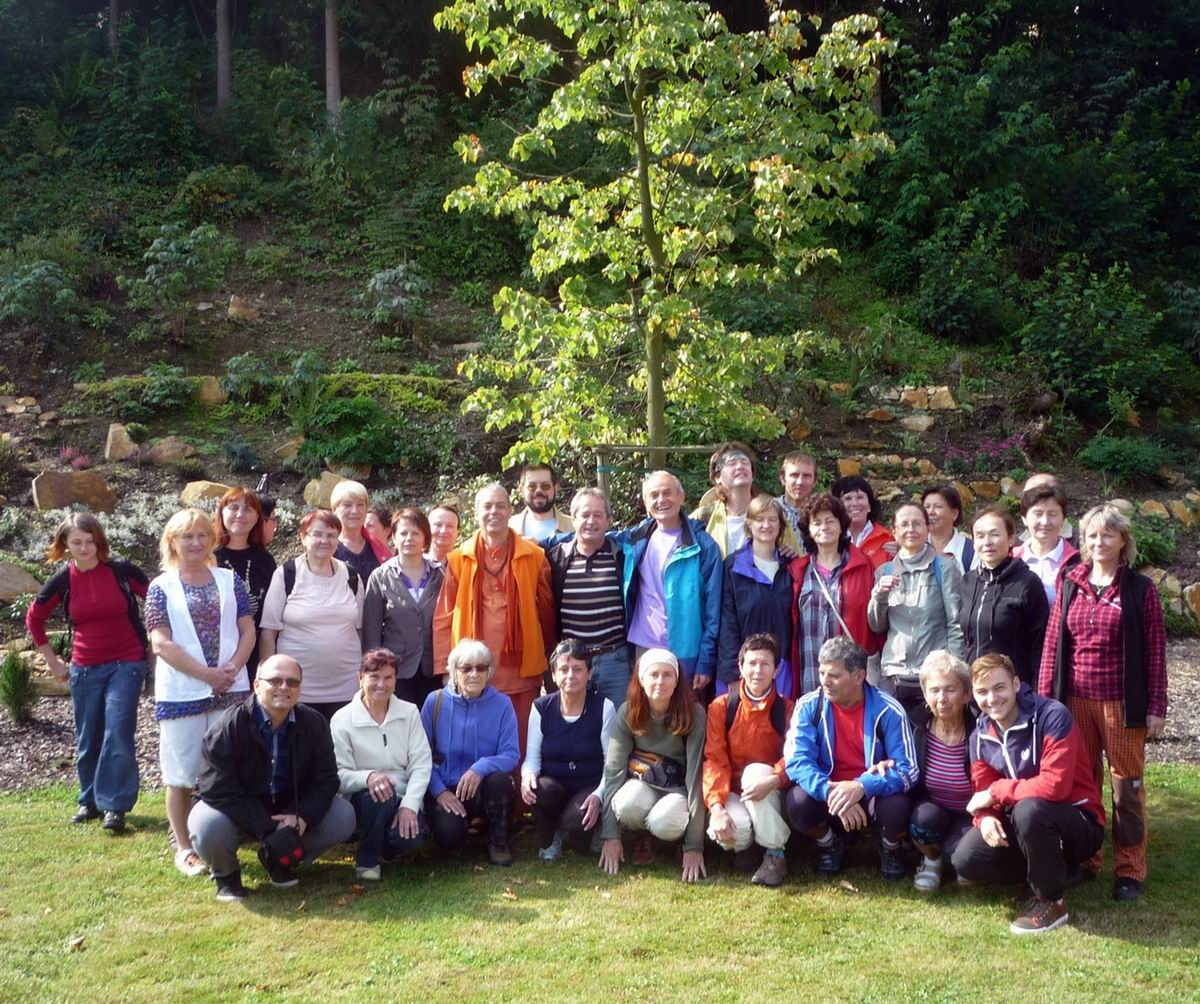 Yoga in Daily Life seminar and Peace Prayer with Swami Gajanand in Czech Republic