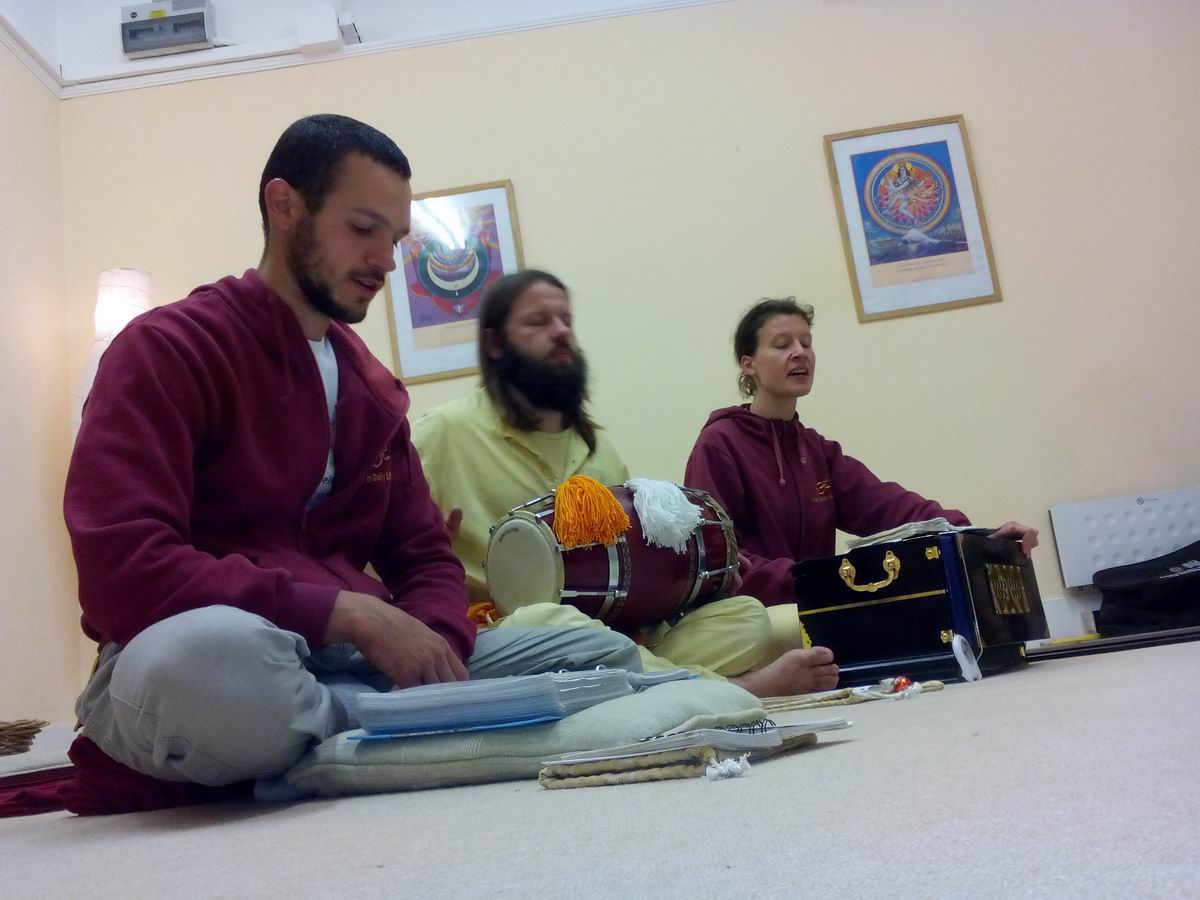 Bhajan Anusthan in London Ashram