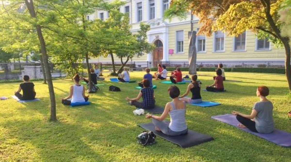 10th anniversary of Yoga in Parks project in Slovenia
