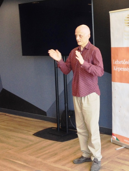 Lecture on Yogic Breath Techniques by Tyagpuri at International Conference, Budapest
