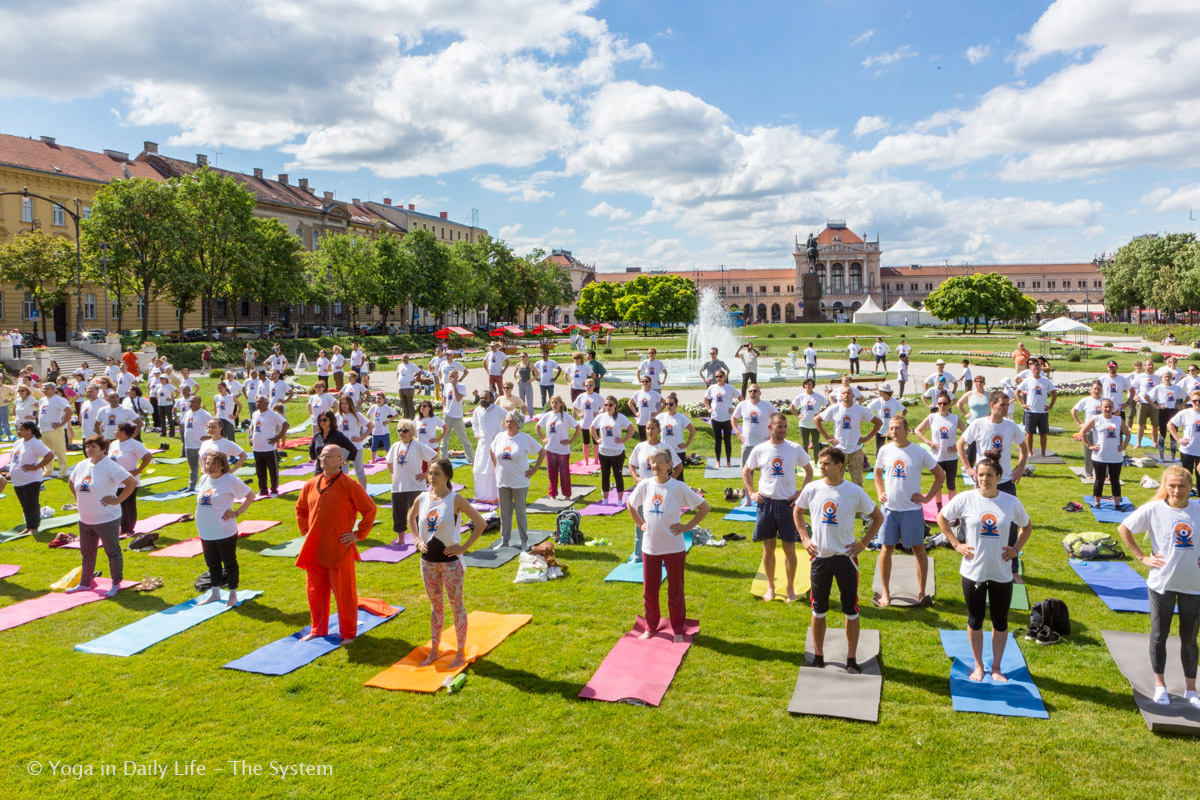 Celebrations of International Day of Yoga in Croatia