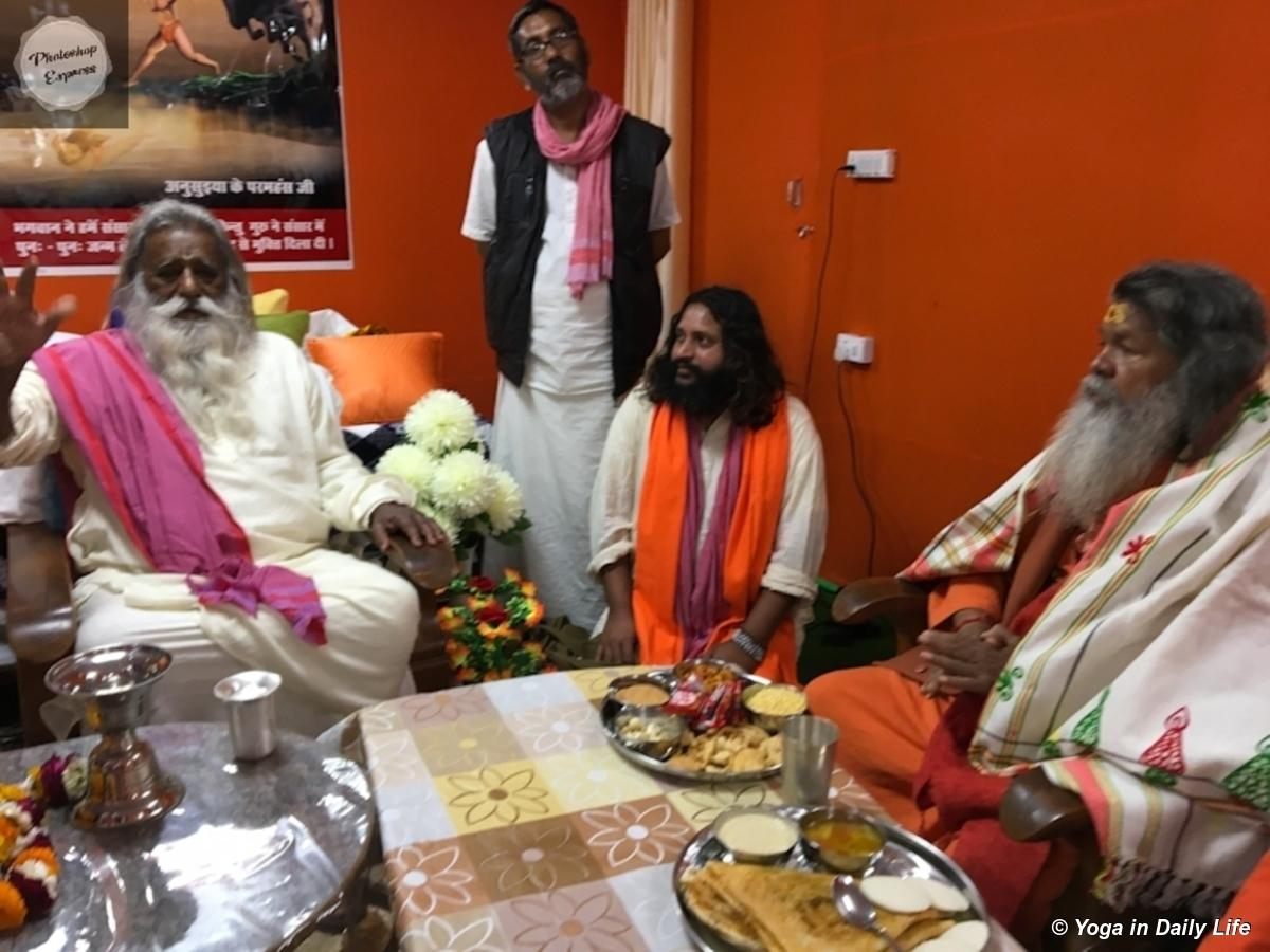 Meeting with Swami Adgadanandji Kumbha Mela 2019