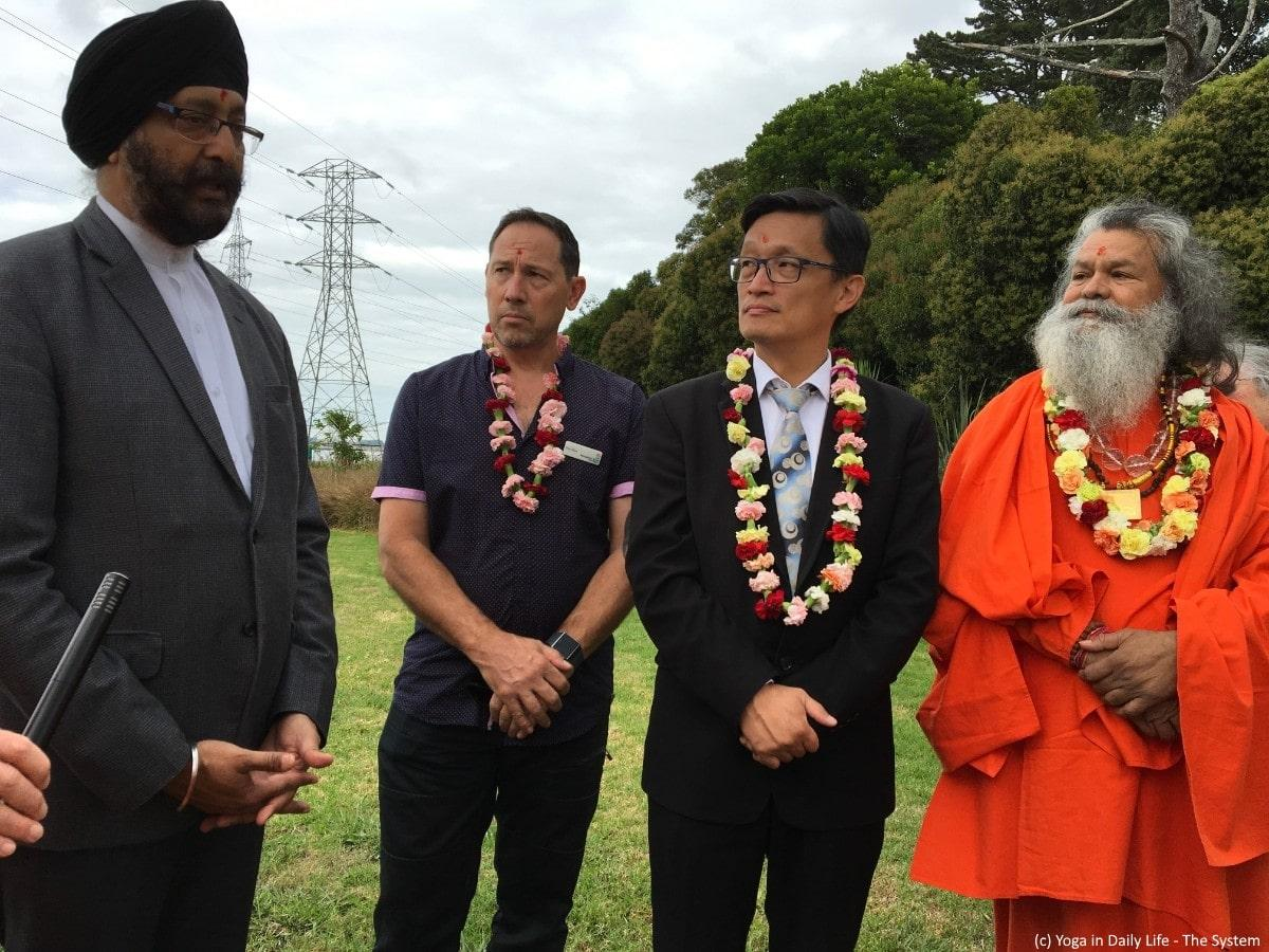 Opening of new ashram with Peace Tree ceremony in New Zealand