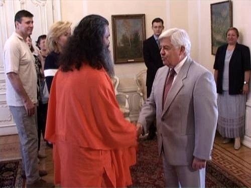 Meeting Slovenian President and Prime Minister (2002)