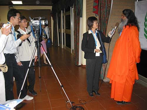 Interviewed by the Foundation for World Peace and Love (FOWPAL) from Taiwan