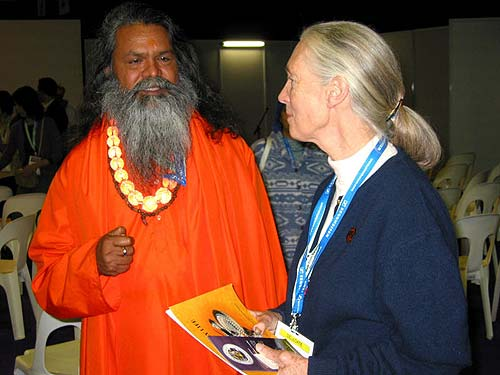 Meeting Jane Goodall, UN Messenger of Peace and renowned environmetalist