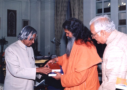 President was given the materials showing Swamiji's life work