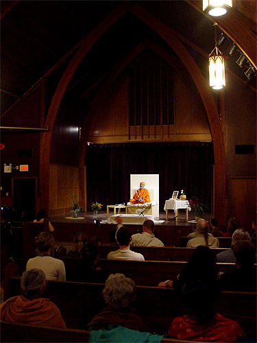 Public lecture in a church in Vancouver