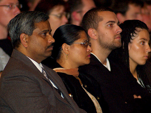 Indian Attache in Croatia with his wife at the Public Lecture