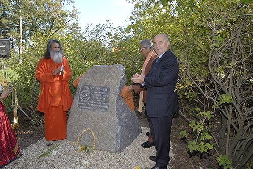Planting of a World Peace Tree and inauguration of a Peace Memorial Stone in Vienna, Austria