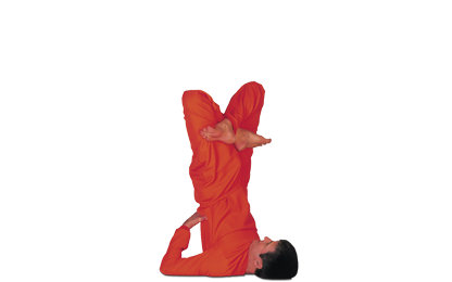 8 – 14 Padma Sarvangasana Lotus in Shoulderstand