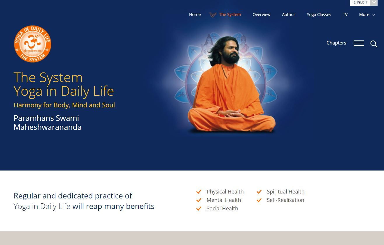 Yoga in Daily Life - eSystem website